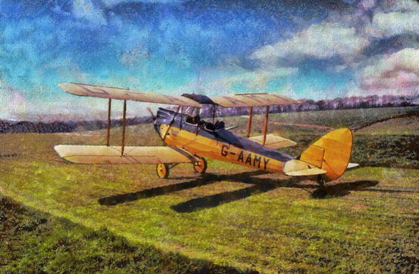 Poster featuring the digital art Gipsy Moth by Paul Gulliver
