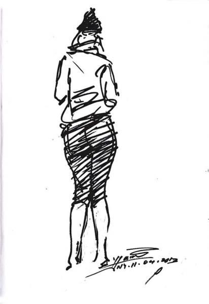 Girl Sketch Poster
