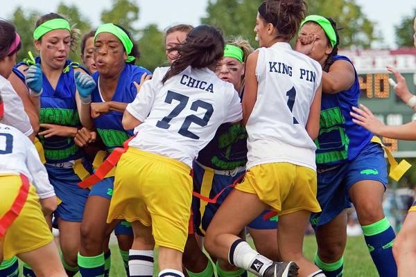 Girls American Football Match Poster