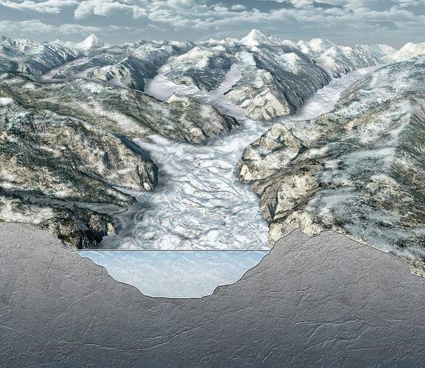 Glacier-filled Kings Canyon Poster