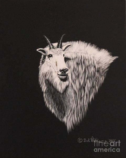 Glacier Park Goat Poster