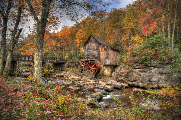 Glade Creek Gristmill Poster