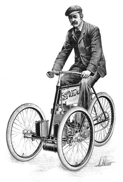 Gladiator Petrol Tricycle, 1897 Poster