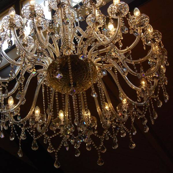Glass Chandelier Poster