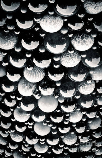 Glass Sky Blown Glass Spheres Of Mdina Glass In Malta Poster