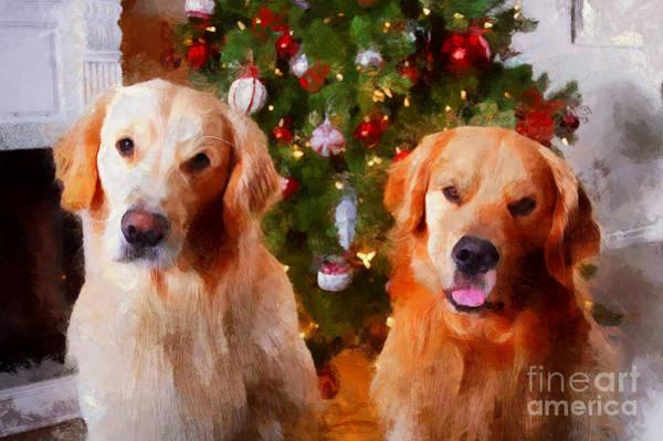 Golden Christmas Poster