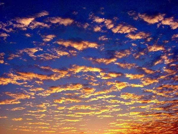 Golden Clouds Poster