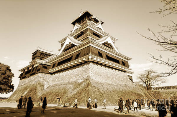Golden Glow - Kumamoto Castle - Kyushu - Japan Poster