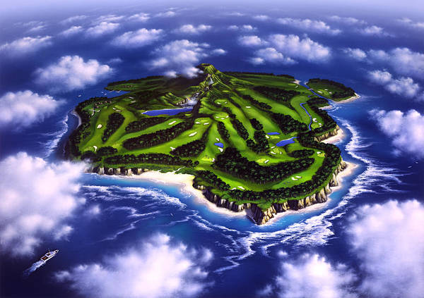 Golfer's Paradise Poster