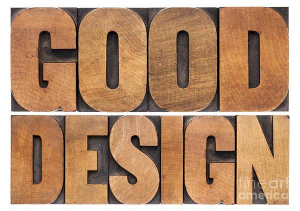 Good Design In Wood Type Poster