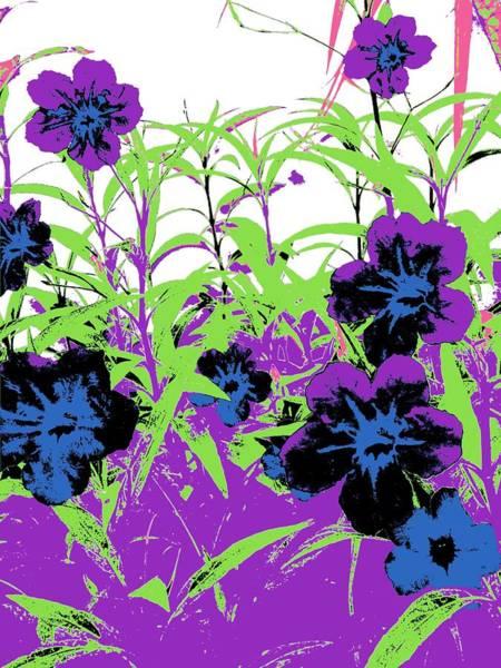 Gothic Garden Orchid Poster