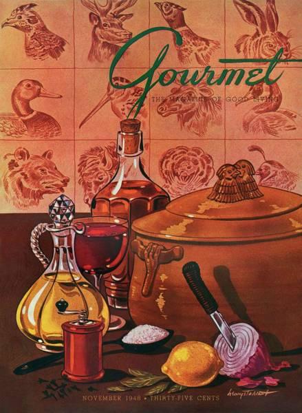 Gourmet Cover Featuring A Casserole Pot Poster