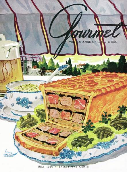Gourmet Cover Of Pate En Croute Froid Poster