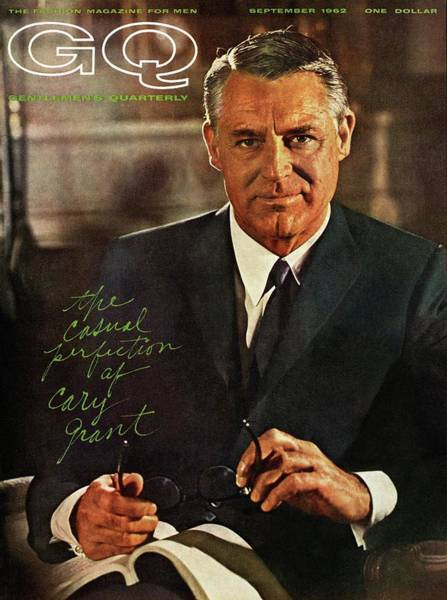 Gq Cover Of Actor Carey Grant Wearing Suit Poster