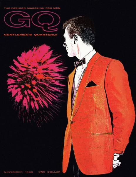 Gq Cover Of An Illustration Of A Man Wearing An Poster