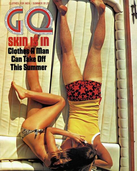 Gq Cover Of Couple Lying Face Down On Boat Deck Poster
