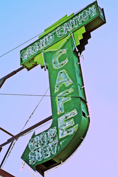 Poster featuring the photograph Grand Canyon Cafe by Gigi Ebert