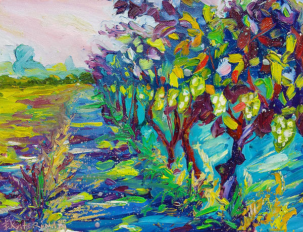 Grape Vines Painting Poster