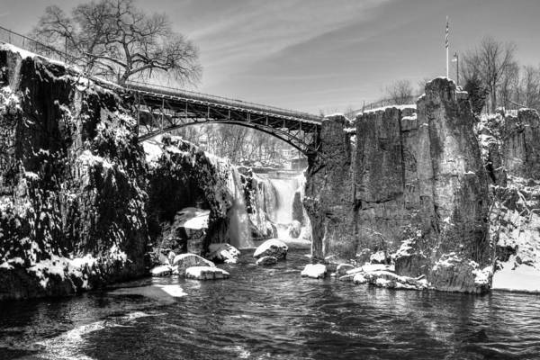 Great Falls In The Winter Poster