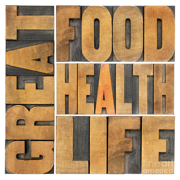 Great Food  Health And Life Poster
