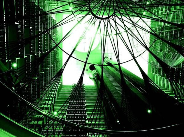 Green Marriott Marque Poster