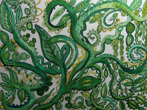 Green Meditation Poster