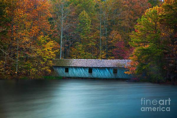 Green Mountain Covered Bridge Huntsville Alabama Poster