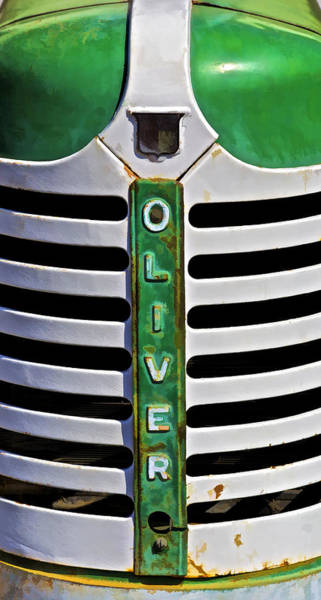 Green Oliver Farm Tractor Poster