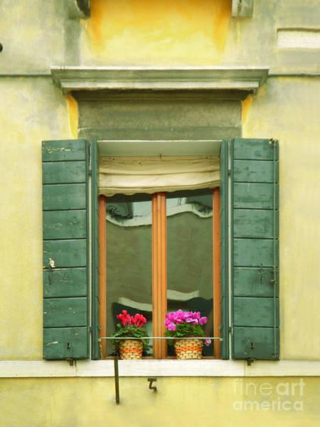 Green Yellow Venice Series Shutters Poster