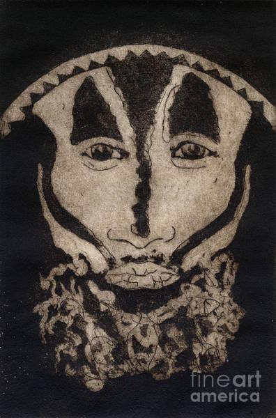 Greetings From New Guinea - Mask - Tribesmen - Tribesman - Tribal - Jefe - Chef De Tribu Poster