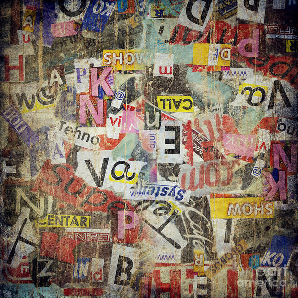 Grunge Textured Background Poster