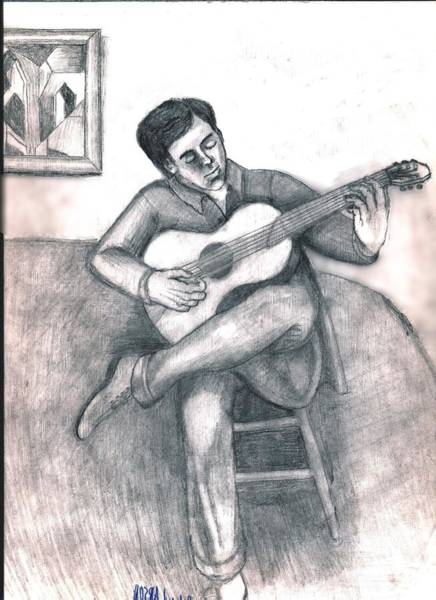 Guitar And Guy Poster