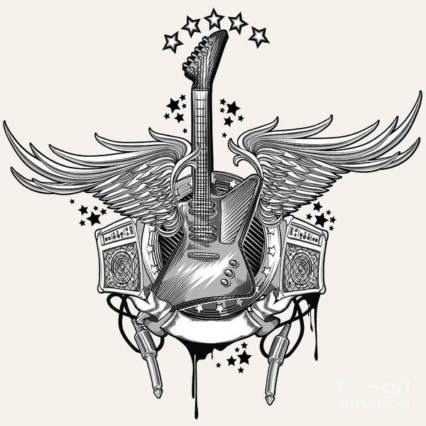 Guitar Emblem Poster