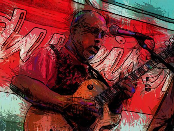Guitar Jazz Player Poster