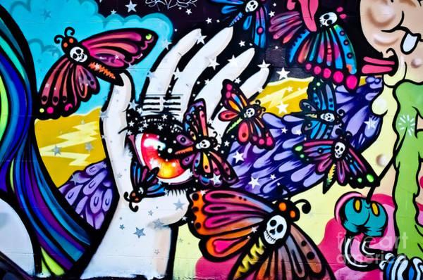 Hallucinogenic Graffiti Art Poster