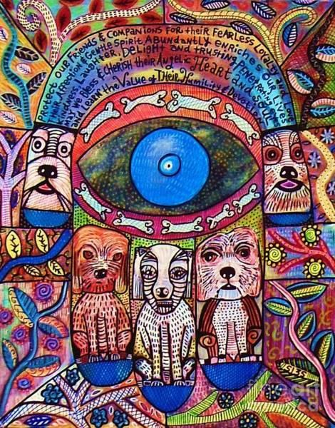 Hamsa Dog Blessing' Poster
