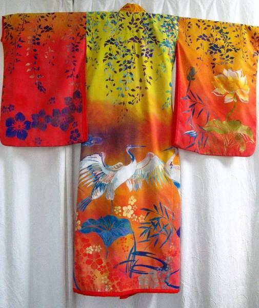 Hand-painred Kimono Poster