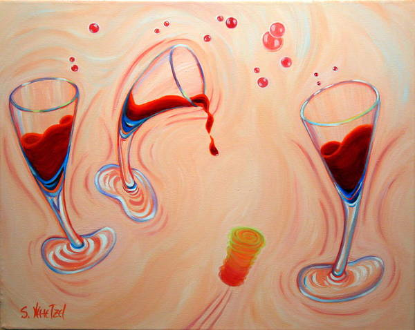 Poster featuring the painting Happy Hour by Sandi Whetzel