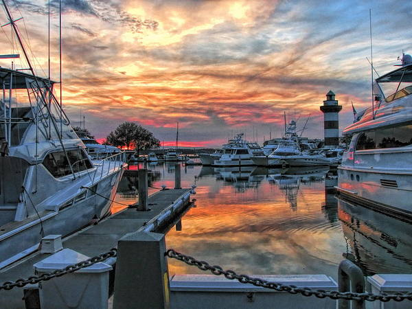 Harbour Town Yacht Basin Poster