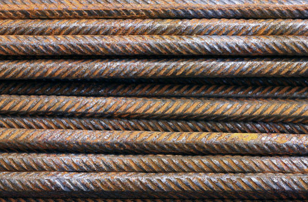 Hard Metal Rebar Pattern Poster
