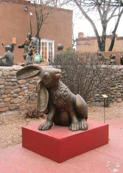 Hare In Santa Fe Poster