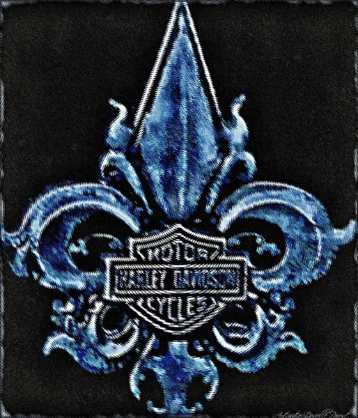 Harley Davidson Fleur De Lys Logo Poster