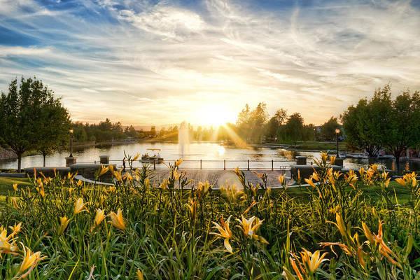 Summertime On Harveston Lake Poster