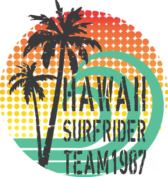 Hawaii Surfrider Team Artwork For Poster
