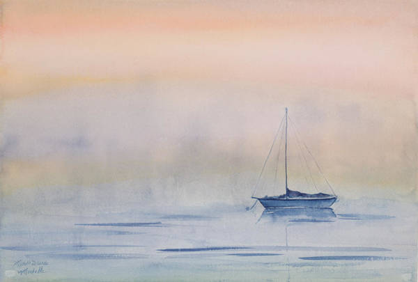 Hazy Day Watercolor Painting Poster