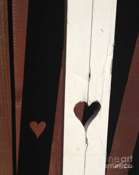 Heart Fence Shadow  Poster