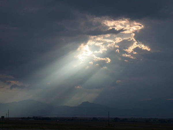 Poster featuring the photograph Heavenly Rays by Shane Bechler