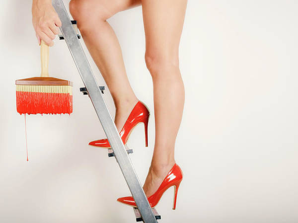 Heels On A Hot Tin Stair Poster