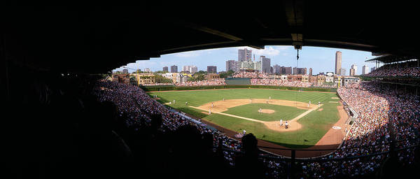High Angle View Of A Baseball Stadium Poster