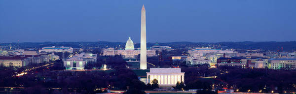High Angle View Of A City, Washington Poster